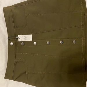 Express Olive Green Mini Skirt
